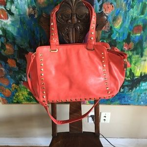 Coral studded tote/ purse